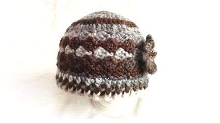 【小脚丫】老年帽(段染款)毛线编织帽子钩针帽子花样编织图解