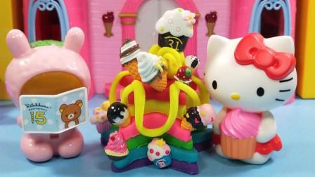 灵犀小乐园之美食小能手 凯蒂猫和读书熊制作冰淇淋主题蛋糕