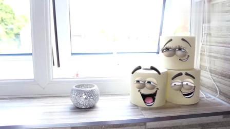 不忍直视的搞笑动画《厕纸的厄运》,呆萌厕纸的悲惨人生_0