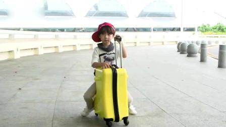 儿童行李箱,可坐骑拉杆箱,女宝宝皮箱子,万向轮卡通,小孩骑行旅行箱男