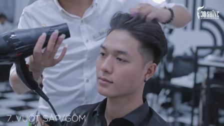 你离变帅之差一款发型,男神露额头发型推荐