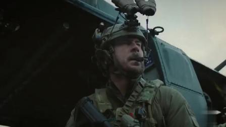 海豹突击队有危险,黑鹰直升机火力支援,加特林机枪扫射地面敌人