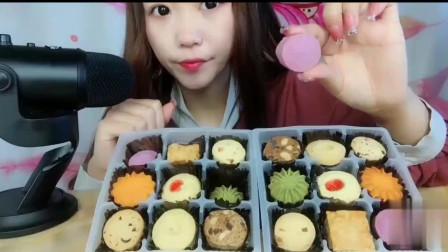 声控吃播:吃播小姐姐吃曲奇饼干,香甜脆脆是幸福的味道!