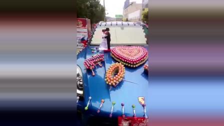 街拍豪车:偶遇棒棒糖婚车,保时捷被打扮成了这样