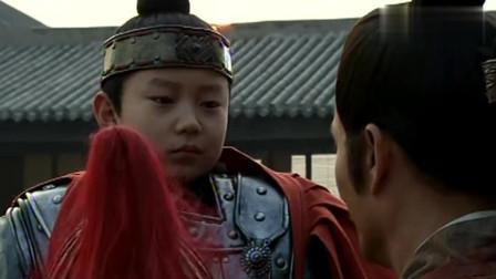 刘邦即将出征讨伐,儿子刘恒为他戴上头盔,太有气势了!