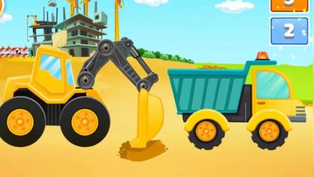 工程车翻斗车组装拼装 驾驶操作大货车装载车铺路 休闲益智游戏