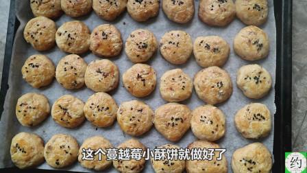 纯手工制作蔓越莓小酥饼,过程详尽,家里有烤箱的可以学一下