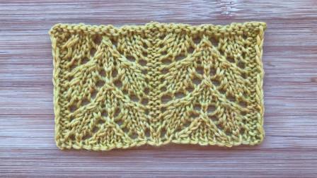唯美双叶子花,简洁大气,织开衫和围巾很漂亮毛线简易织法