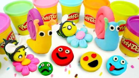 丹丹姐姐今天要用橡皮泥搓出什么图案呢?趣味玩具故事