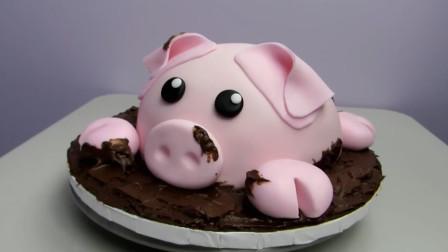 自制DIY可爱小猪蛋糕 诸事皆顺利