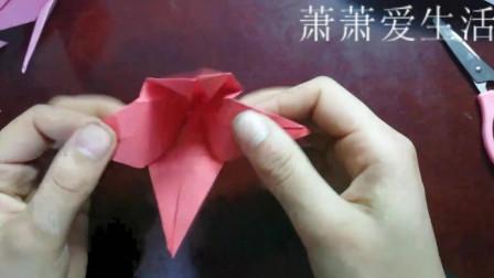 百合花最简单的折法,教你折出好看的百合花