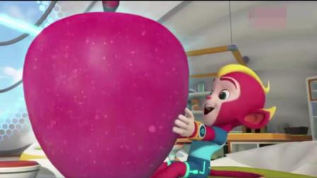 宇宙护卫队:彩虹把闪电的苹果放大了,护卫队接到求救警报!