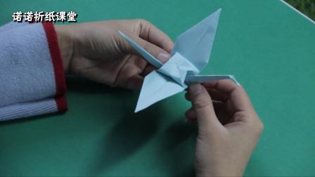 诺诺老师的手工课堂开课啦,小朋友们一起学习折纸鹤吧