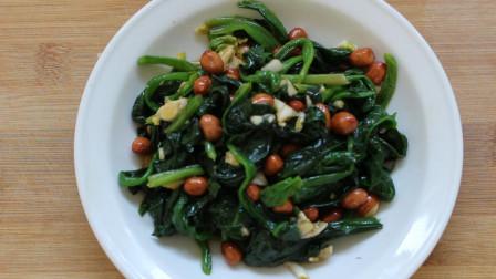 凉拌菠菜的家常做法,简单几步,味道超好吃!