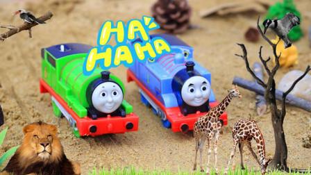 媛媛玩具故事 托马斯小火车之非洲探险上集