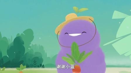 小鸡彩虹 第五季 小鸡彩虹:这个萝卜真大,小紫小蓝能成功吗
