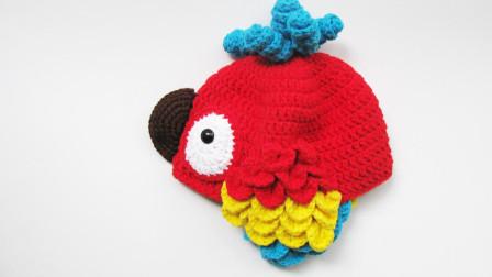 第40集 赛君手作 鹦鹉帽主体五股牛奶棉通用帽身护耳钩针编织视频教程