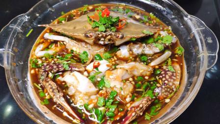 梭子蟹这样做太好吃了,不用炒不用蒸,鲜美入味,2分钟学会!