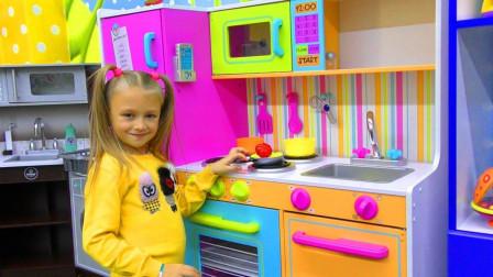 萌宝小萝莉在玩什么过家家游戏呢?趣味玩具故事