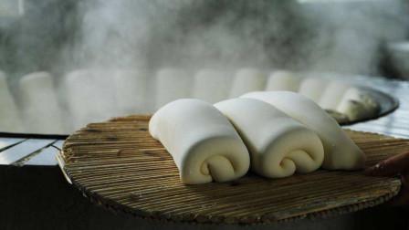 美食诱惑 中国大面包洁白光滑 混元紧实的阜阳枕头馍 制作过程