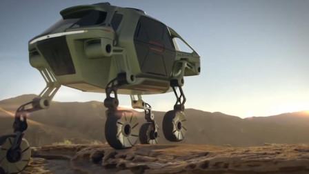 黑科技救援车,轮胎秒变大腿,翻山越岭无所不能