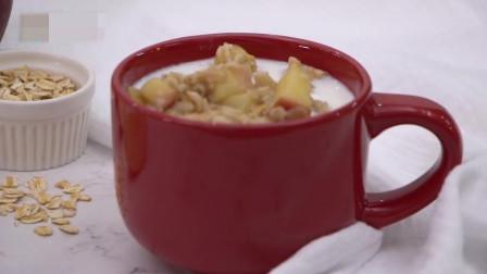 5分钟搞定的苹果肉桂牛奶燕麦,开启新一天