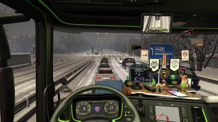 欧洲卡车模拟2:新斯堪尼亚S730 V8声音,结霜的冬季MOD