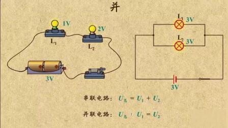 初中物理:探究串并联电路的电压的特点