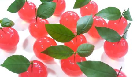 这样做出来的水晶樱桃果冻,简直就是小孩子的最爱,要抢着买吧