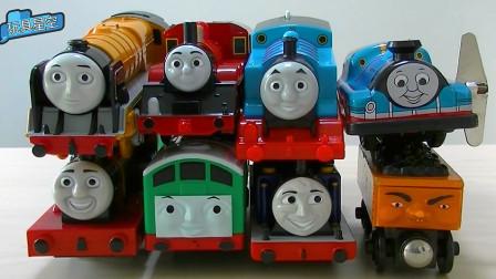托马斯小火车礼盒玩具 小火车轨道玩耍滑倒游戏
