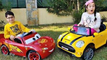 萌宝小萝莉的车子为什么会坏了呢?汽车总动员趣味玩具故事