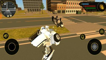 汽车变形金刚:汽车人一个飞踢,直接将机器人踢飞!