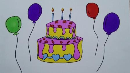 妙笔画未来:老师给大家画一幅非常好吃的生日蛋糕,大家喜欢吗?