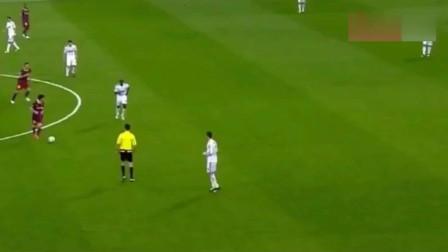 """千万不能让梅西踢嗨,不然一群人都拦不住他,这就是""""球王""""!"""