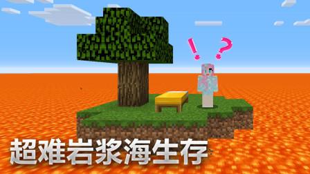小橙子姐姐我的世界岩浆世界孤岛生存5:重生在刷怪塔内?!可怕!