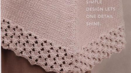 简洁的镂空花样,织法简单,织衣服下摆和袖口,精致唯美大全图解