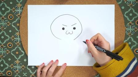用简笔画画表情包,详细的视频教程,教幼儿画简笔画