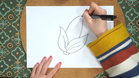 教幼儿画简单的玉米简笔画,详细的视频教程让孩子轻松学会