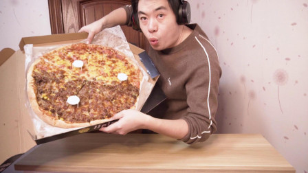 大披萨20寸,6个人的份量,一人吃起来真过瘾