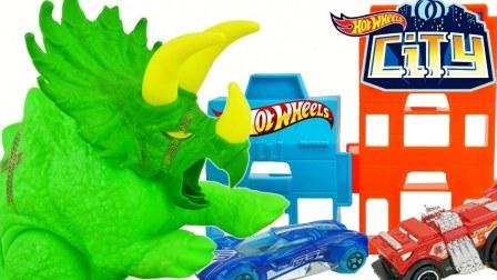 风火轮汽车 三角龙玩具 玩具车