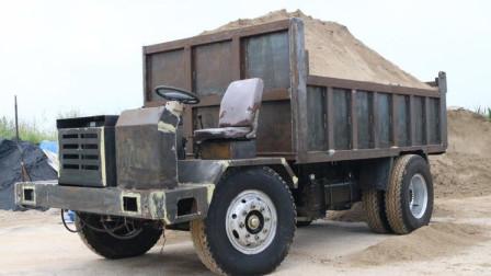 15吨四驱四不像车满载爬坡测试视频,4108动力杠杠的!