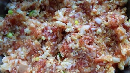 饺子馆不外传的猪肉白菜馅做法,好吃不出水,猪肉无腥味,太棒了