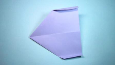 手工折纸,飞机的折法,简单一学就会,能在空中飞很久的纸飞机