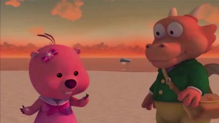 小企鹅啵乐乐动画片, 露比吃了童童给的魔法糖摇身变成运动健将了