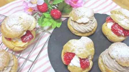 用饼干做奶油泡芙~好吃又营养!关键是做法很简单!