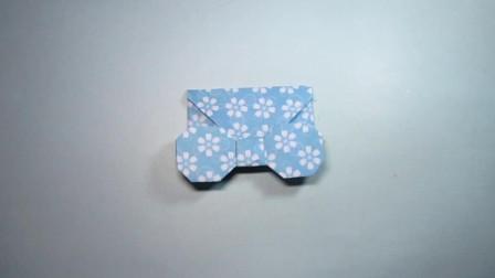 手工折纸,蝴蝶结信封的折法,简单又实用还很漂亮