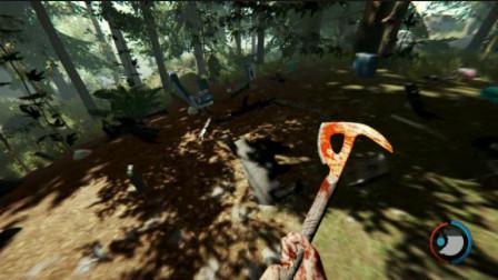 沙盒游戏:危险的森林求生,探索黑漆漆的山洞,里面竟有变异体