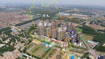 航拍北三县之大厂,被通州房价持续烘烤,归属地传言经常性变化的河北县城