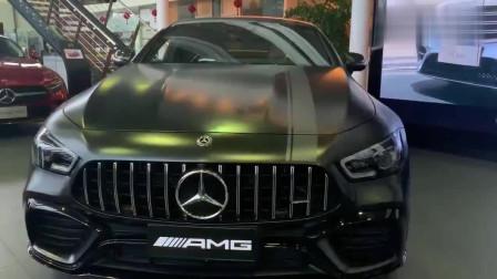 奔驰梅赛德斯AMGGT四门,感受下它的魅力,看着霸气十足!