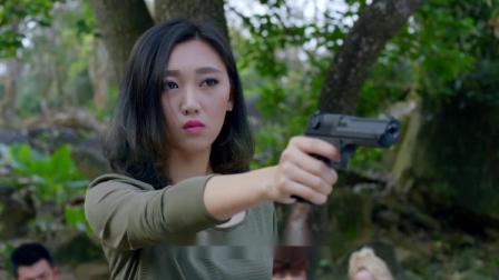 对方拿人质威胁美女,不料美女一枪杀了,美女实在是太狠心了!